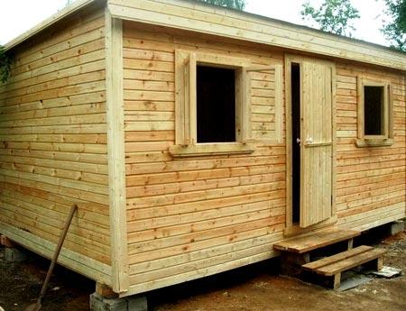 проект деревянной бытовки