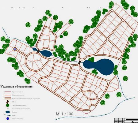 планировка коттеджного поселка