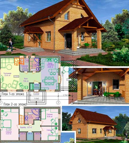 проект дома 8x10