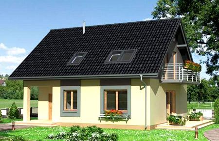 дом двускатная крыша