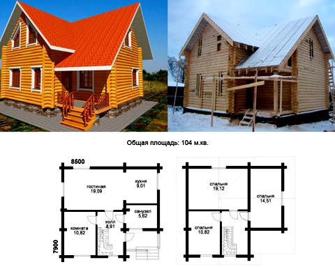 Строительство двухэтажного дома из бруса своими руками