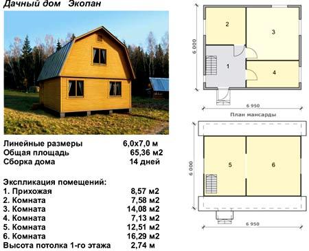 дачный дом ЭКОПАН