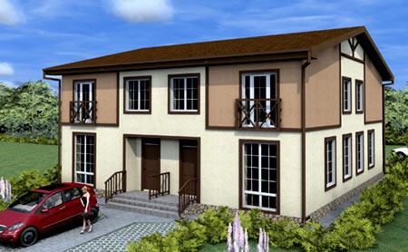 двухэтажный квадрохаус