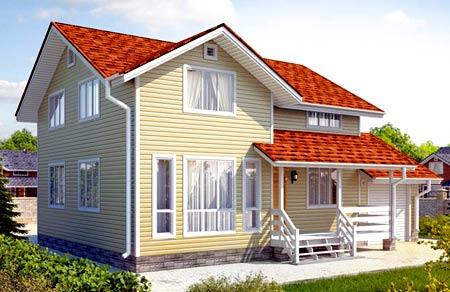 проект дома с верандой