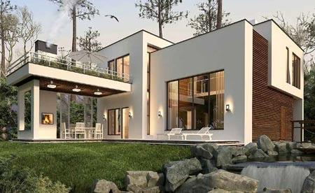 Проект дома в хайтек стиле