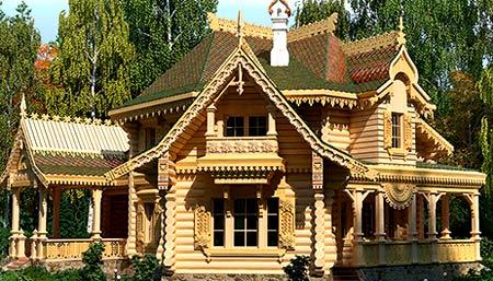 проект деревянного терема