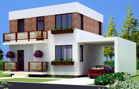 проект двухэтажного домика