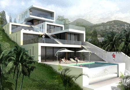 дом с террасами