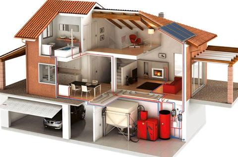 проект дом отопление