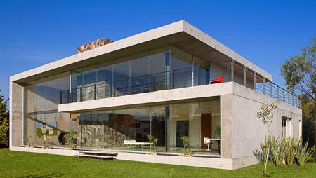 проект дома из бетона