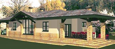 кирпичный дом терраса