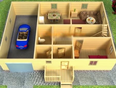 проект деревянный дом