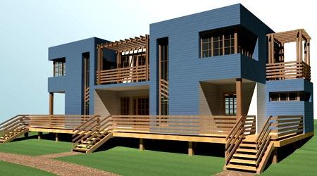 дом с раздельными выходами