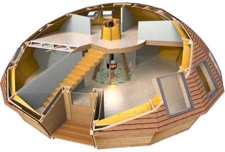 двухэтажный сферический дом
