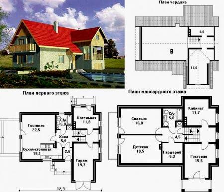 Дом чертежи и размеры схемы и проекты эскизы 147