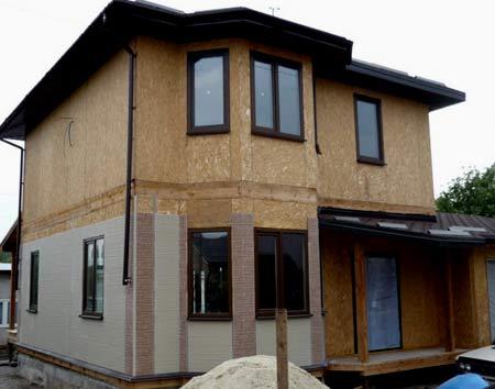 двухэтажный экопан дом