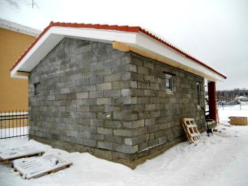 проект бани из газоблоков