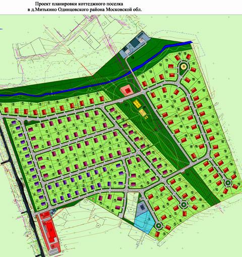 коттеджный поселок проект