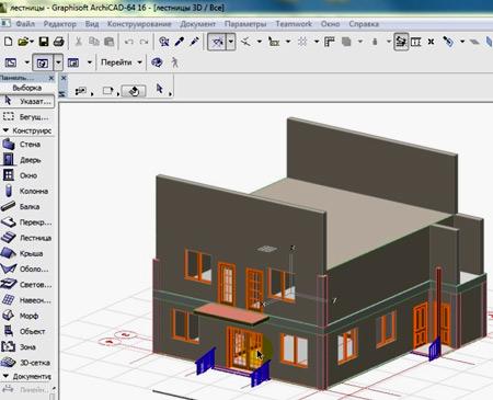 проект дома в archicad