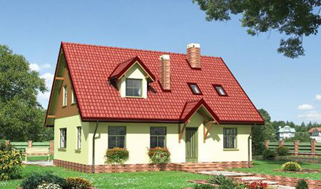 проект дачного дома из пеноблоков
