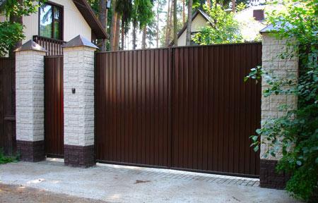 ворота изготовленные из профнастила