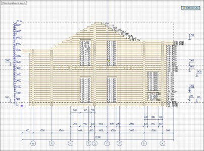 программа для проектирования деревянных домов Housecreator