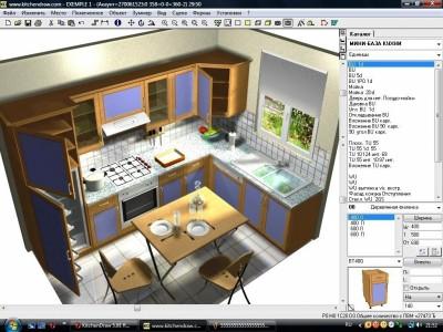 проектирование и моделирование кухни в доме или квартире