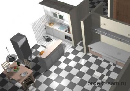3d модель кухни в программе Kitchen Draw