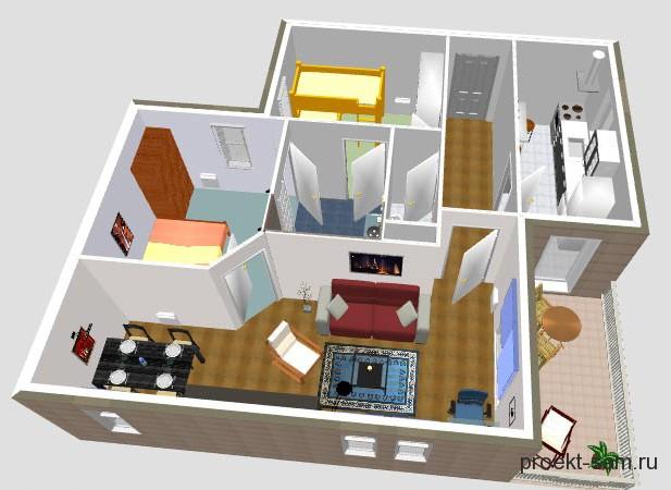планировка дома в программе Sweet 3D Home