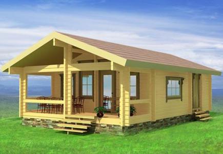 проект недорогого дома из клееного бруса