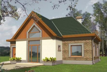 проект небольшого одноэтажного дома с гаражом и мансардой