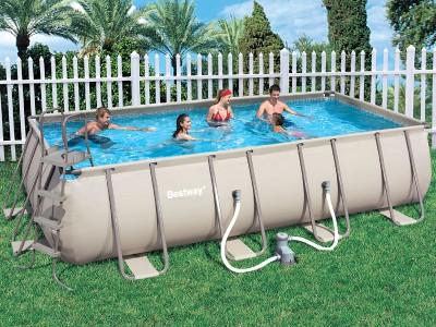 прямоугольный каркасный бассейн для дачи