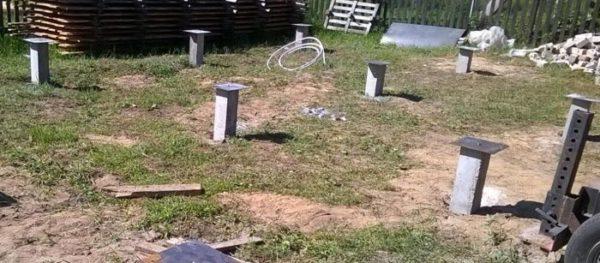смонтированые бетоные сваи