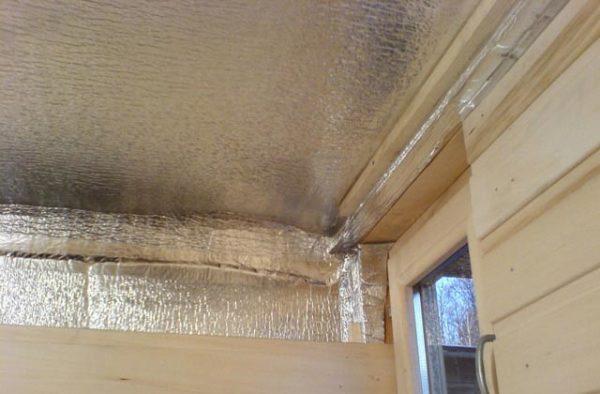 фольга на потолке