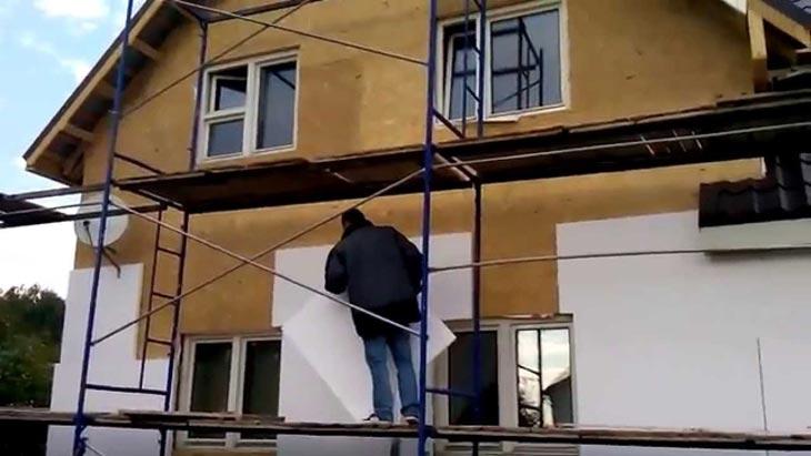 монтаж пенопласта