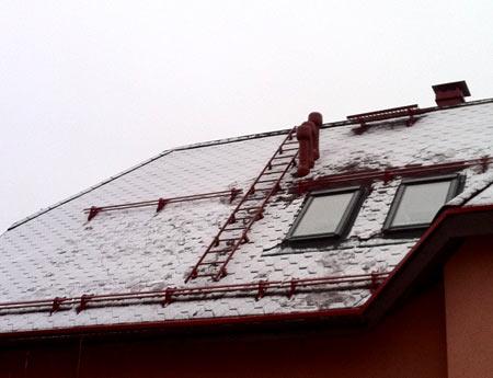расположение снегодержтелей на крыше