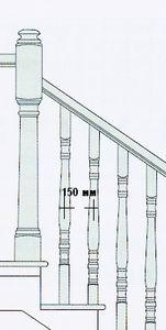 оптимальное расстояние между балясинами деревянной лестницы