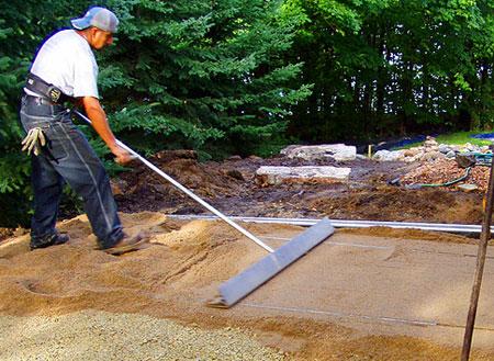 разметка участка под песочницу
