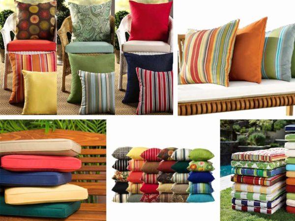Подушки для мебели разной формы