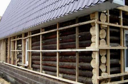 реконструкция деревянных стен дома