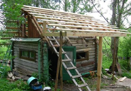 баня ремонт крыши