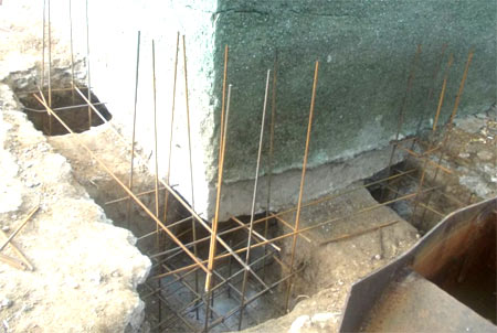 ремонт ленточный фундамент