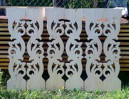 Резной забор из дерева своими руками: шаблоны, установка 85