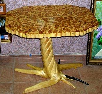 рисунок резного стола