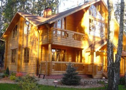 роскошный деревянный дом