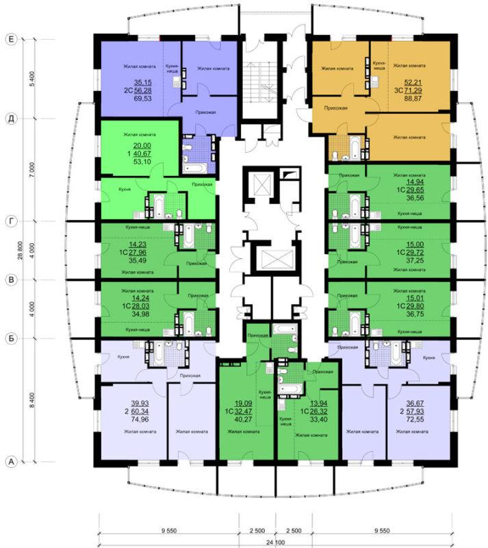 план многоэтажного дома