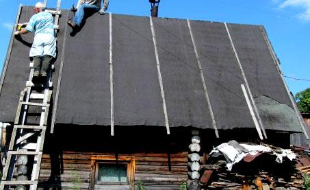 крыша сарая из рубероида