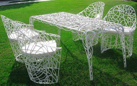 сад кованая мебель
