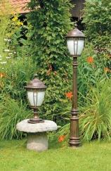 садовые светильники разной высоты