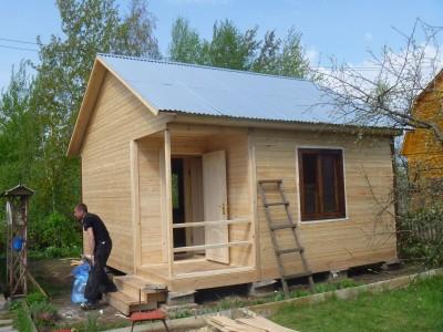 садовый деревянный домик 5х5